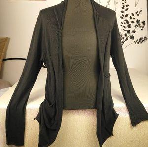 Zara Man long cardigan black size M